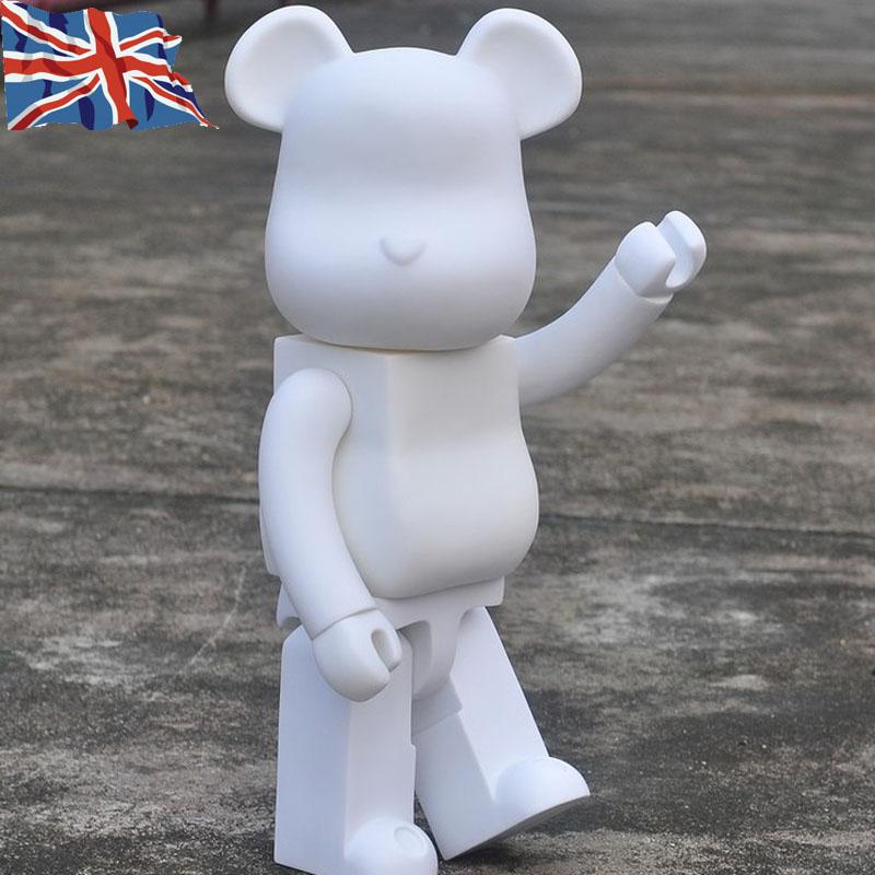 4e4d82c2 Designer & Urban Vinyl Be@rbrick Bearbrick 400% DIY Paint Color White PVC  Action Figure Toy 28CM 11