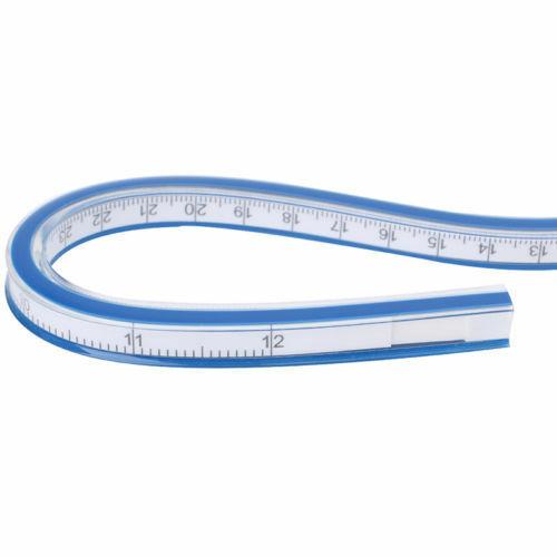 30//40//50//60cm Flexible Ruler Drawing Paint Bendy Curve Measure Drafting WCS