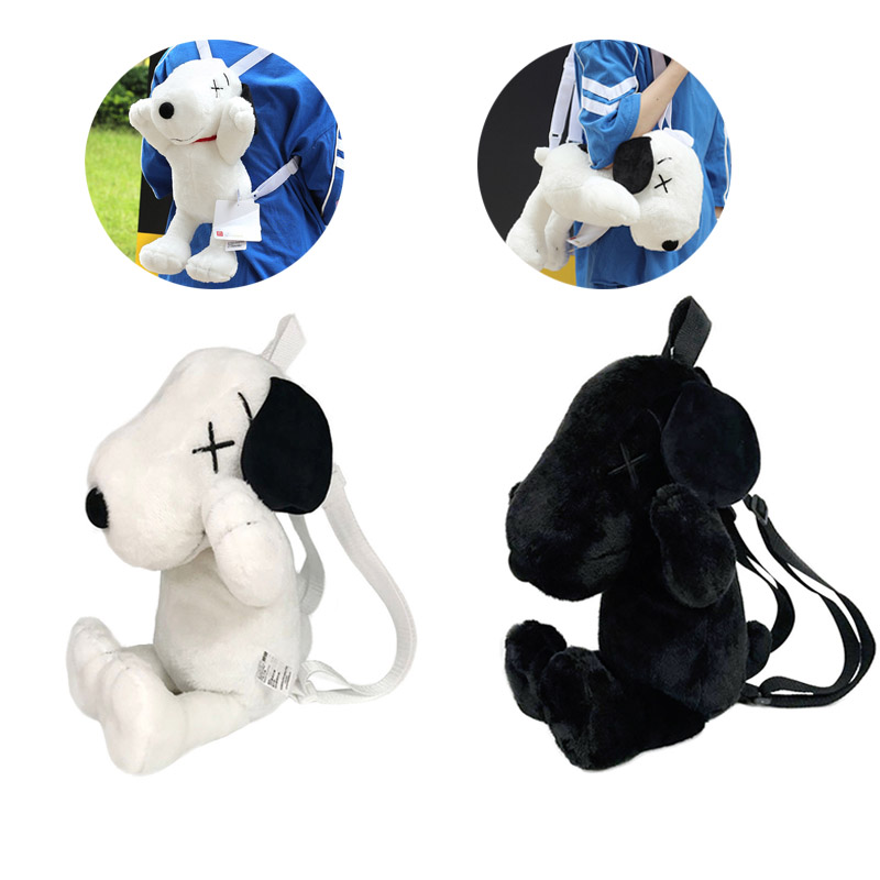 Uniqlo Kaws Snoopy Plush Doll Backpack Should Bag Tote Toy