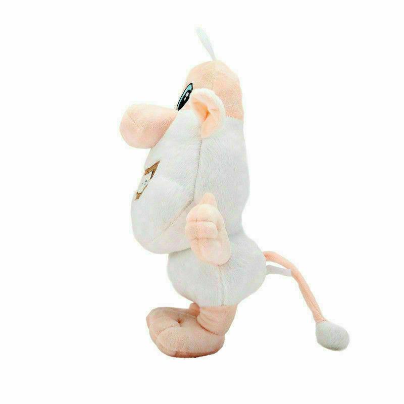 20//30CM Booba Buba Plush Toy Cartoon Russia Anime Little White Pig Stuffed Doll