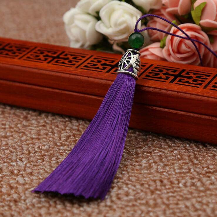 8cm Metal Cap Bead Ice Silk Tassel Trim Craft Jewelry Making Accessory DIY UK