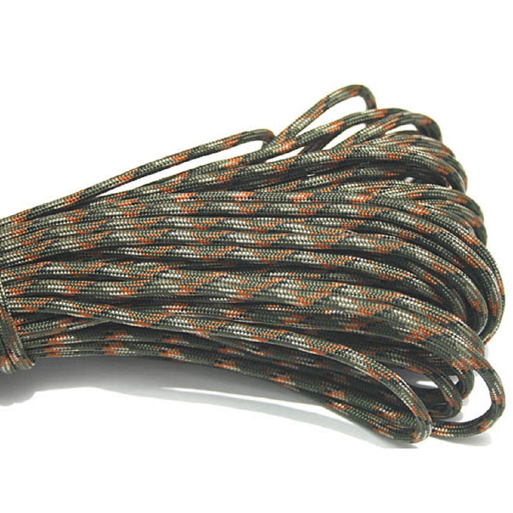 100FT 550 Paracord Parachute Cord Mil Spec Type III 7 Strand Core Lanyard Rope
