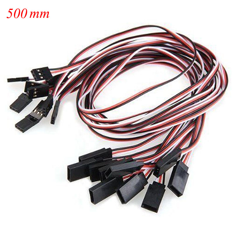 10-x-10-to-50-CM-Servo-Extension-Male-to-Female-Lead-Wire-Cable-For-RC-Futaba-JR