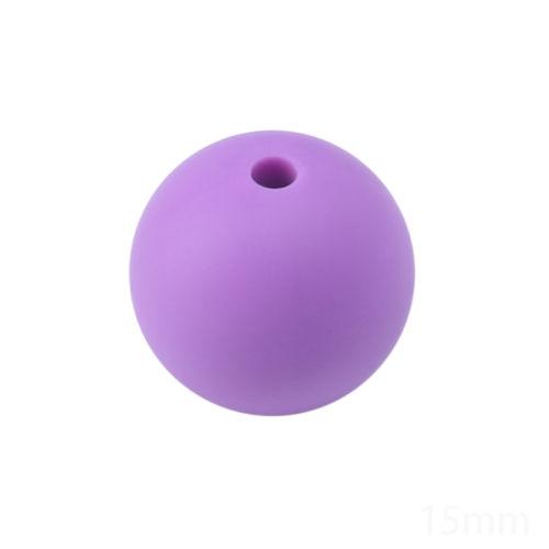 BPA-frei-Baby-Zahnen-Halskette-Pflege-Teether-Silikon-Runden-Perlen-20pcs-12mm