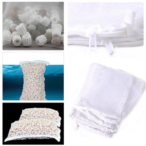 Nylon-Aquarium-Fish-Tank-Pond-Filter-Media-Zip-Mesh-Net-Food-Zipper-Bags-Lots