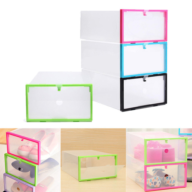 Image Is Loading Foldable Stackable Clear Plastic Drawer Case Organizer Box