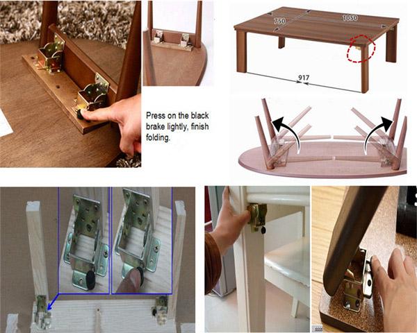 Iron Locking Folding Bracket Table Leg Hinges