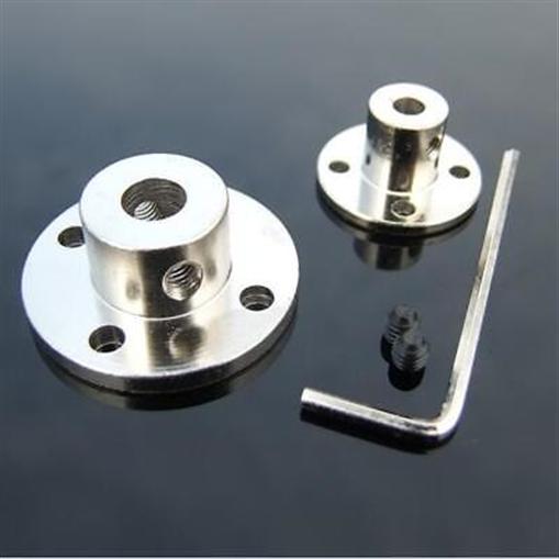 3mm-14mm Starr Flansch Kupplung Motor Führen Welle Stehlen Koppler Motor Stecker