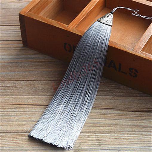 17cm-Legierung-Metall-Kappe-Eis-Seide-Quaste-Trimmen-Schmuck-Herstellung-DIY