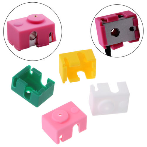 3D Printer Silicone Sock Heater Block Covers For E3D-V6 Protect Tool Round HoleF