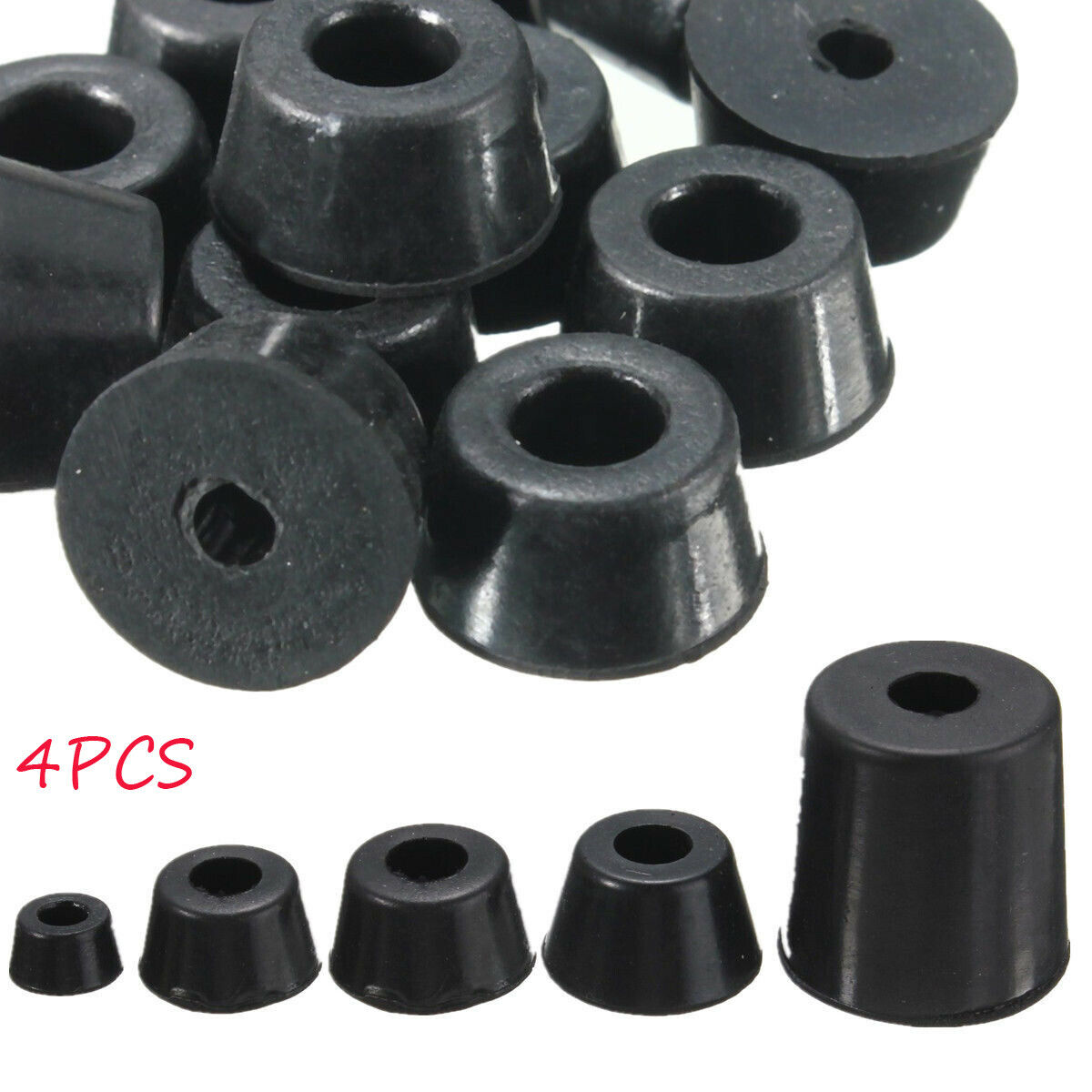 4x Plastic Black Blanking End Cap Oval Tube Inserts Pipe Box 15//20//30//40mm 50mm