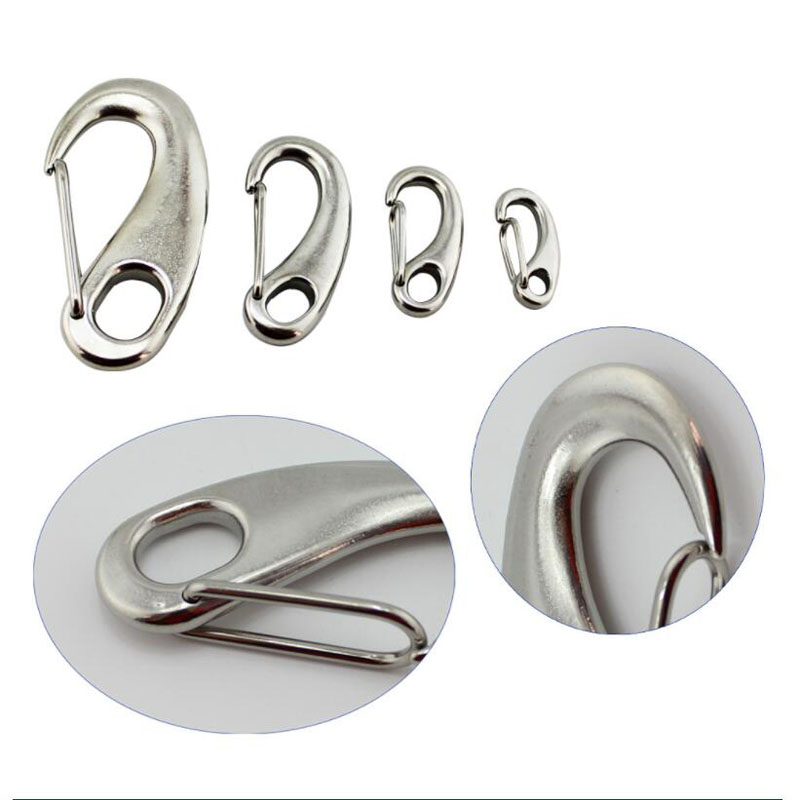 304-Boat-Marine-A2-Stainless-Steel-Gate-Spring-Clip-Snap-Hook-Lobster-Claw-CA