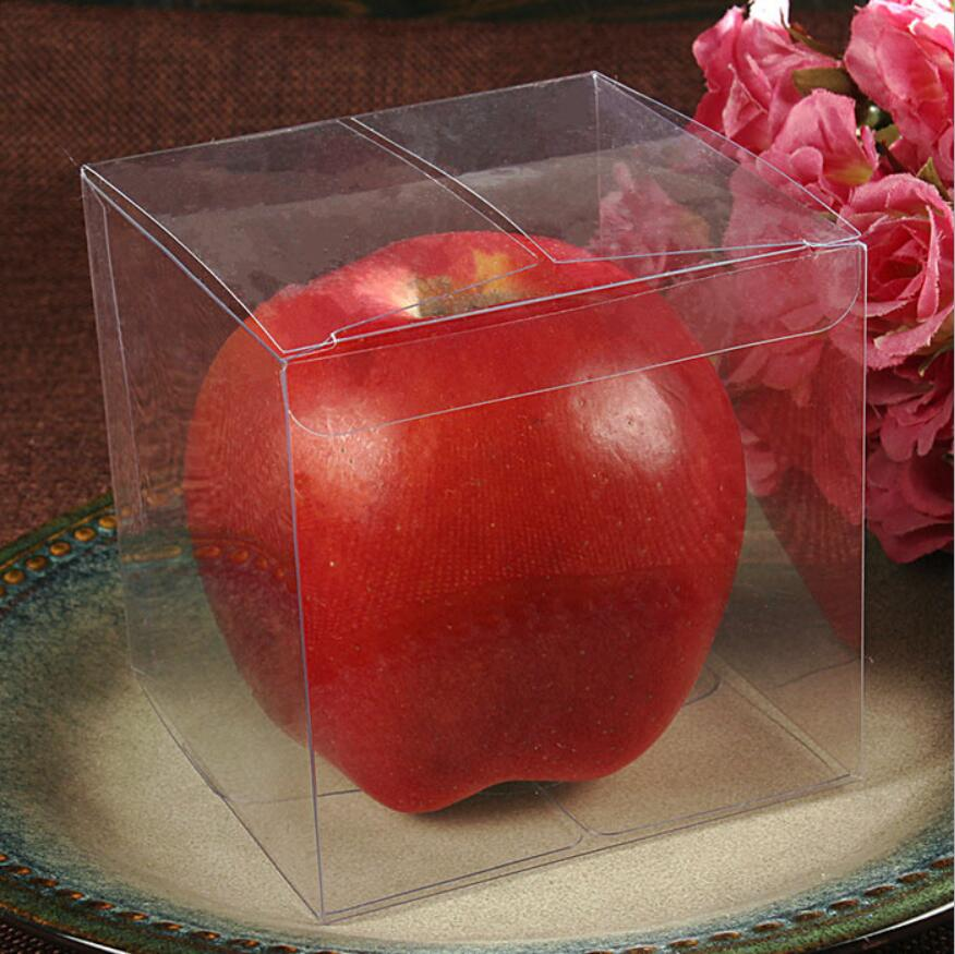 Clear Pvc Plastic Square Chocolate Candy Gift Boxes Wedding Party