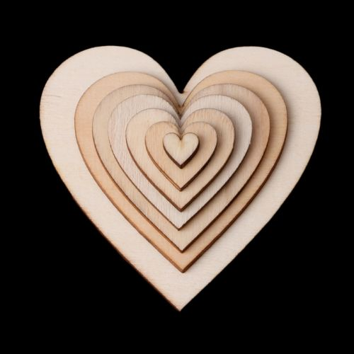 Wooden love heart shapes craft shapes large small wood for Wooden hearts for crafts