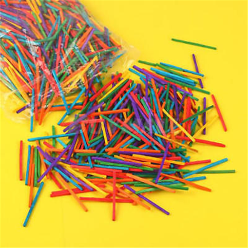 1000Pcs Multicolor Wooden Popsicle Sticks For Party Kids