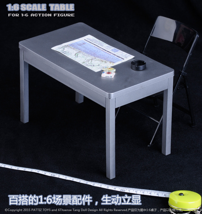 """chair for 12/"""" Action Figure Solider In-Stock 1//6 Scale Furniture Table Desk"""