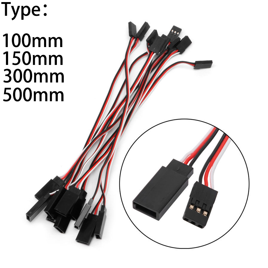 Image is loading 10pcs15-30-50-CM-Servo-Extension-Male-to-