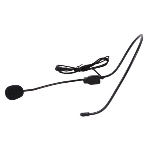 3 5mm Dual Ear Head Headset Mic Phone Headworn Microphone