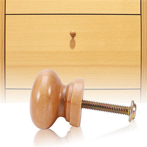 Pull Up Bar Nepal: Lots Natural Wood Wooden Round Cabinet Knob Drawer