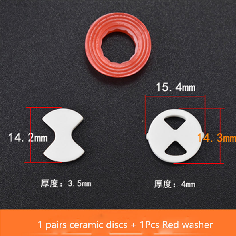 Valve Tap Replacement Ceramic Disc & Silicone Washer Gasket Parts ...
