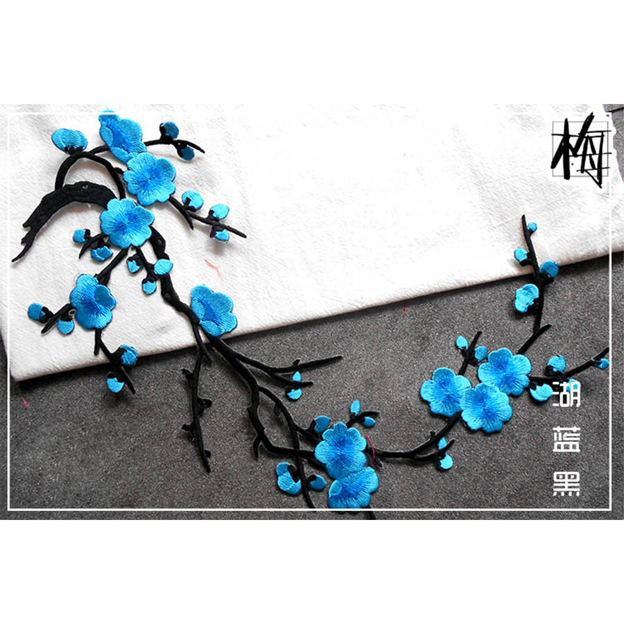 Blossom-Flower-Applique-Clothing-Embroidery-Patch-Sticker-Iron-On-Sew-Cloth-FR
