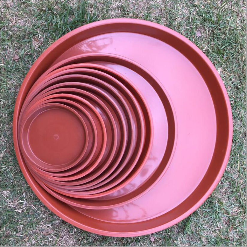 10pcs round red plastic flower plant pot saucers water tray base various sizes k ebay. Black Bedroom Furniture Sets. Home Design Ideas