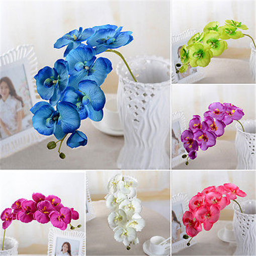 70cm Artificial Butterfly Orchid Silk Flowers Phalaenopsis Wedding